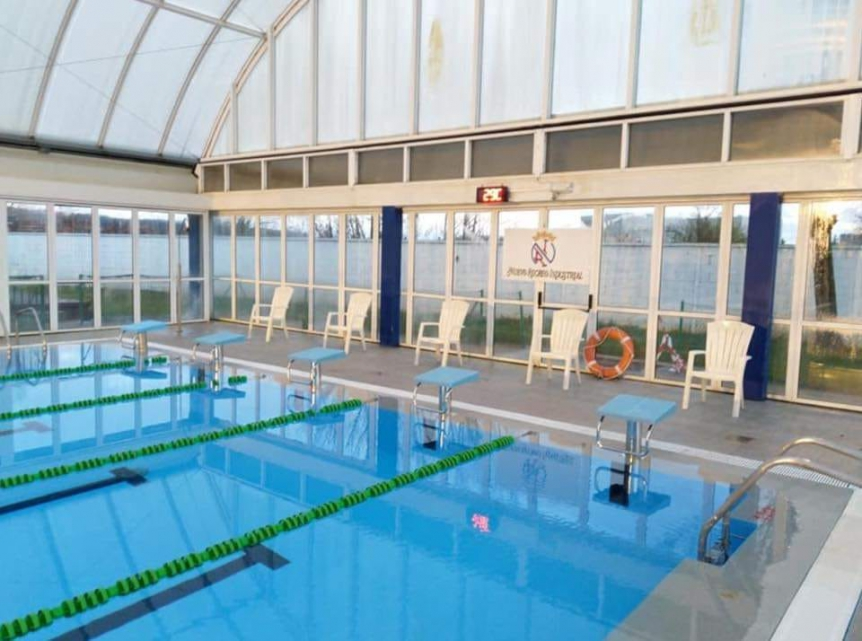 Temperatura del edificio de piscinas