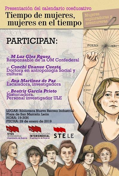 PRESENTACIÓN DEL CALENDARIO COEDUCATIVO - TIEMPO DE MUJERES, MUJERES EN EL TIEMPO.