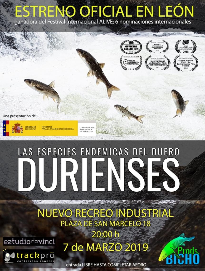 Las especies endémicas del Duero
