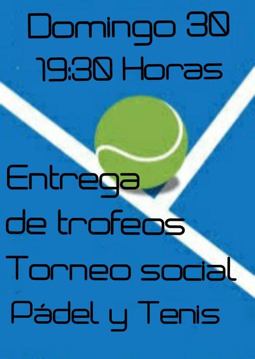 Entrega de trofeos torneo social de pádel y tenis