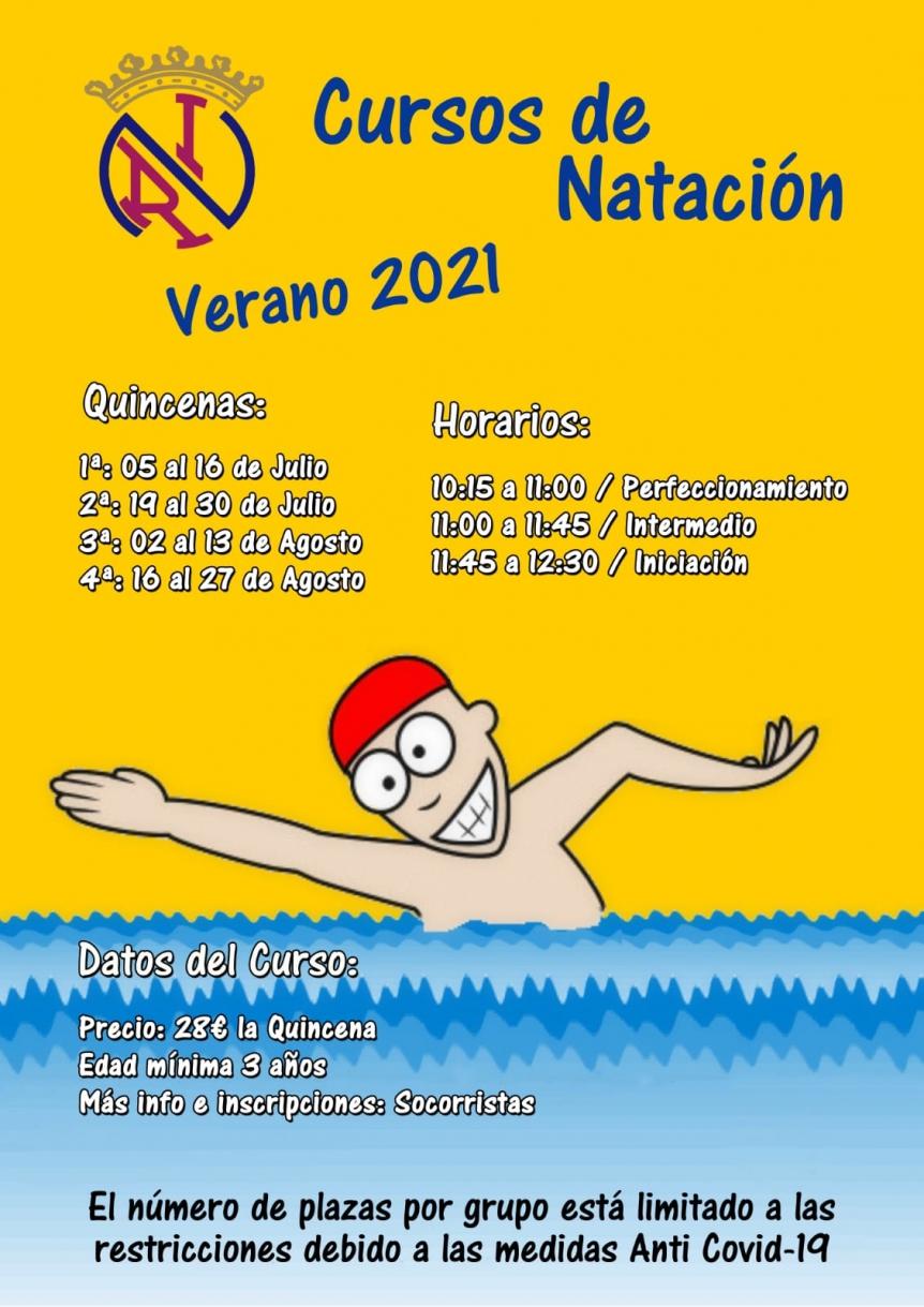 CURSOS NATACIÓN VERANO 2021