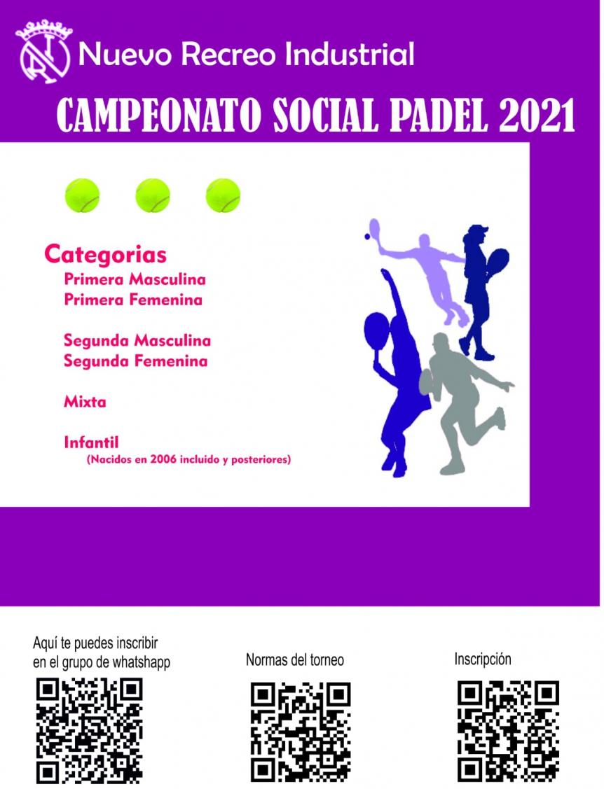 Campeonato social de pádel 2021