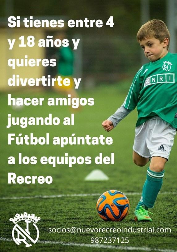Se necesitan niños para los equipos de fútbol
