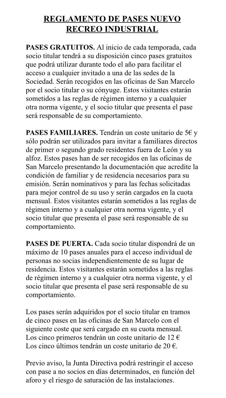 Reglamento de pases